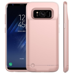 4200mAh Battery Case Extended Battery Power Charger for Samsung Galaxy S8 G950 - Rose Gold