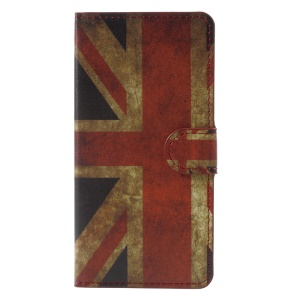 Printing Pattern Wallet Leather Stand Case for Lenovo K8 - Flag of British