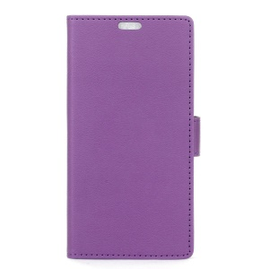 Phone Leather Stand Case for Lenovo K8 Plus - Purple