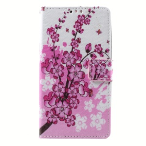 Callfree PU Leather Flip Case for Lenovo A536 - Wintersweet Flowers