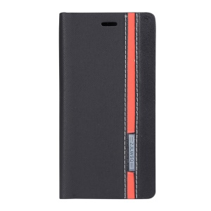 Two-color Leather Stand Case for Lenovo S660 - Black
