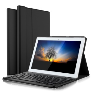 Detachable Bluetooth Keyboard Leather Stand Case for Lenovo Tab 4 10 - Black