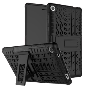 Cool Tyre Kickstand PC + TPU Hybrid Case for Lenovo Tab3 7 730X - Black