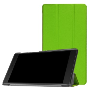 Tri-fold Stand Leather Case for Lenovo Tab 7 Essential (2017) / Tab 4 7 - Green