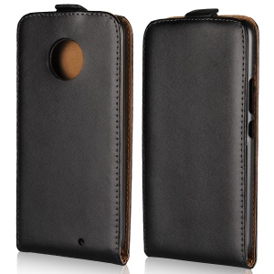 Vertical Flip Genuine Split Leather Cover Case for Motorola Moto X4 / X (4th gen.)