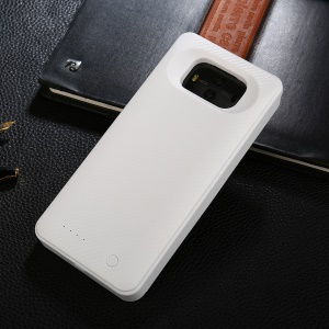 6600mAh Portable Backup Battery Charger Case for Huawei Mate 10 Pro - White