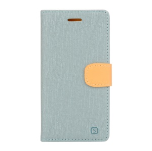 Magnetic Leather Stand Case for Lenovo P70 - Baby Blue