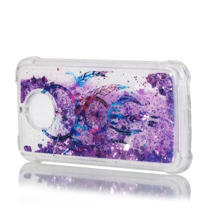 Dynamic Glitter Powder Quicksand Shockproof TPU Mobile Case for Motorola Moto G6/G5S - Dream Catcher