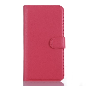 Litchi Skin Wallet Leather Phone Case for Lenovo Vibe S1 - Rose