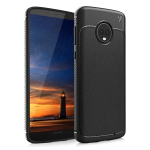 IVSO Gentry Series Leather Coated TPU Case for Motorola Moto G6 Plus - Black