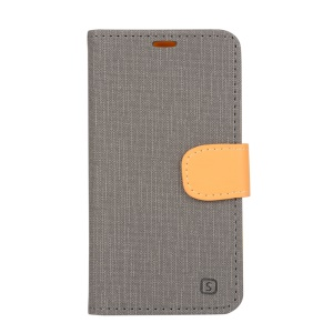 Wallet Leather Stand Cover for Lenovo S660 - Grey