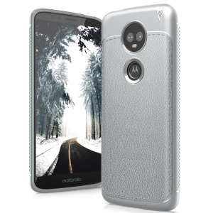 IVSO Gentry Series for Motorola Moto E5 Plus Leather Coated TPU Casing - Grey