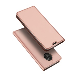 DUX DUCIS Skin Pro Series Leather Stand Cover for Motorola Moto G6 - Rose Gold