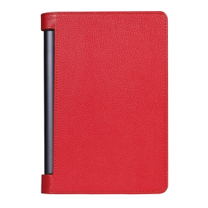 Litchi Skin Leather Stand Cover for Lenovo Yoga Tab 3 Pro 10.1 - Red