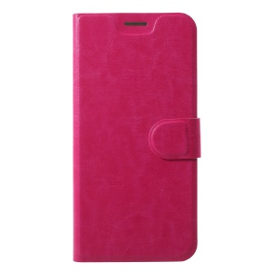 Crazy Horse Texture Card Holder Stand Flip Leather Cover for Motorola Moto Z3 Play - Rose