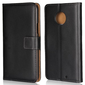 Wallet Stand Split Leather Cell Phone Cover for Motorola Moto X4 / X (4th gen.) - Black