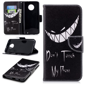 Pattern Printing Leather Wallet Stand Cover for Motorola Moto G6 Plus - Angry Face