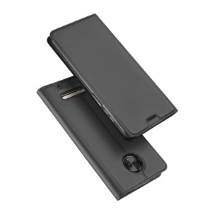 DUX DUCIS Skin Pro Series Leather Stand Case for Motorola Moto Z3 Play - Grey