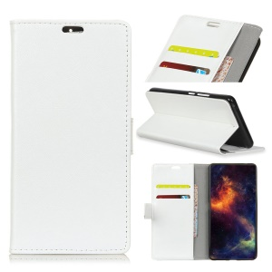 Crazy Horse PU Leather Stand Wallet Phone Cover for Motorola Moto E5 Play - White
