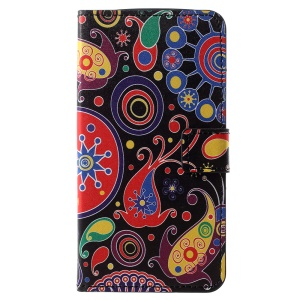 Pattern Printing PU Leather Magnetic Wallet Stand Case for Motorola Moto E5 Play - Abstract Pattern