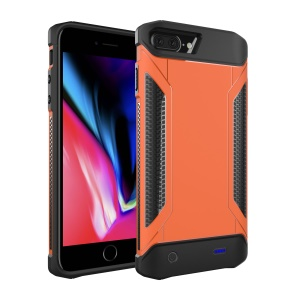 Detachable Shockproof Charger Power Bank Case External Battery for iPhone 8 Plus/7 Plus/6 Plus/6s Plus - Orange