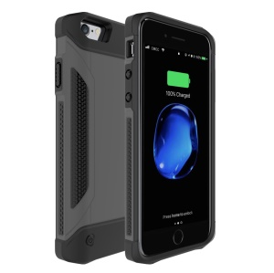 Shockproof Charger Case Power Bank External Battery for iPhone 7/6/6s - Black