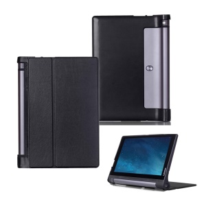 Bi-fold Smart Leather Case with Stand for Lenovo Yoga Tablet 3 10-inch X50L - Black