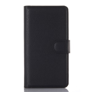 Lychee Wallet Leather Case for Lenovo A6010 / A6010 Plus / A6000 Plus / A6000 - Black