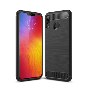Carbon Fibre Brushed TPU Case for Lenovo Z5 - Black