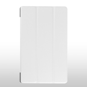 Tri-fold Stand Leather Cover for Lenovo Tab 2 A8-50 - White