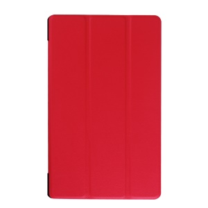 Tri-fold Stand Leather Case Cover for Lenovo Tab 2 A8-50 - Red