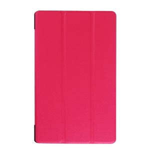 Tri-fold Stand Leather Cover Case for Lenovo Tab 2 A8-50 - Rose
