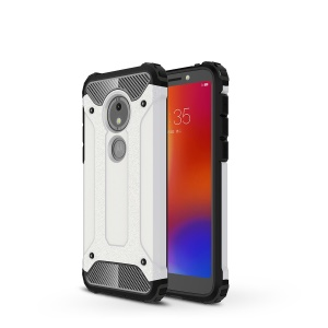 Armor Guard Plastic + TPU Hybrid Phone Cover for Motorola Moto E5 Play Go - White