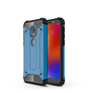 Armor Guard Plastic + TPU Phone Back Shell Cover for Motorola Moto E5 Play Go - Blue