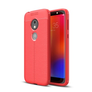 Litchi Texture TPU Shell Case for Motorola Moto E5 Play Go - Red