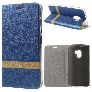 Lines Texture Leather Cover Protector for Lenovo Vibe X3 Lite/A7010/K4 Note A7010a48 - Dark Blue