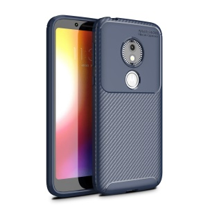 Carbon Fiber Drop Resistant TPU Cover Protector for Motorola Moto E5 Play Go - Blue