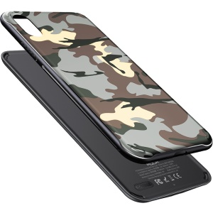 ROCK P53 Magnetic Wireless Charger Case 5000mAh Portable Wireless Charger for iPhone XS Max - Camouflage