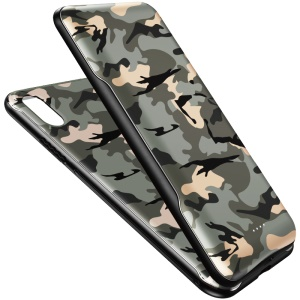 ROCK P67 2 in 1 5000mAh Wireless Charger Pack Magnetic Charger Case for iPhone XR - Camouflage