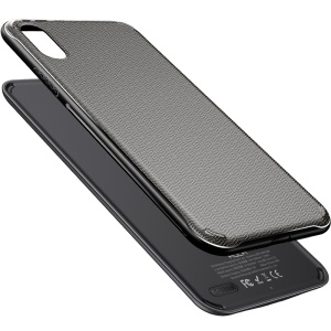 ROCK P53 for iPhone XS 5W 5000mAh Wireless Charger Battery Pack Magnetic Charging Cover 2 in 1 - Black