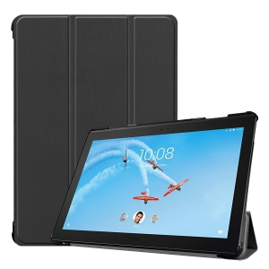 Tri-fold Stand Leather Tablet Case for Lenovo Tab P10 10.1-inch - Black