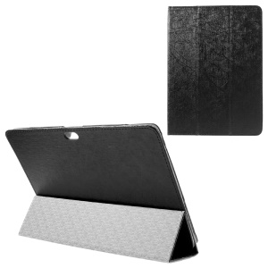Lines Texture Stand Leather Case for Lenovo TAB 2 A10-30 - Black