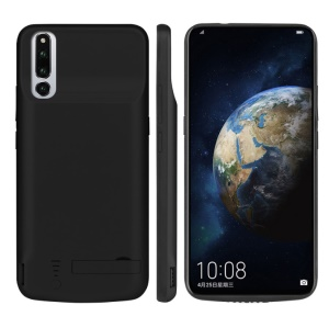 6000mAh Battery Charger Case with Kickstand for Huawei Honor Magic 2 - Black