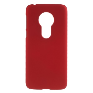 Rubberized Hard Plastic Phone Case for Motorola Moto G7 Play - Red