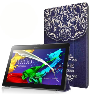 Tri-fold Stand Flip Leather Cover for Lenovo Tab 2 A10-30 - Mandala Flower