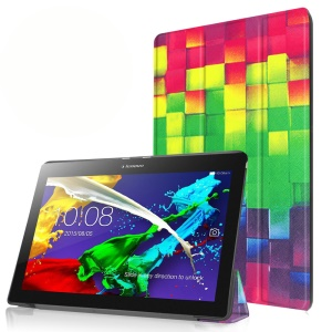 Tri-fold Stand Flip Leather Case for Lenovo Tab 2 A10-30 - 3D Effect Figure