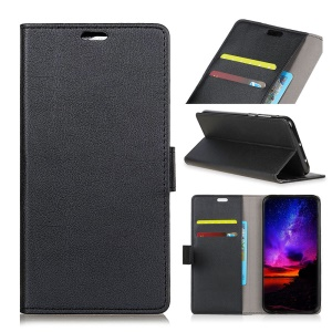 Wallet Stand Leather Protection Case for Motorola Moto G7 Power - Black
