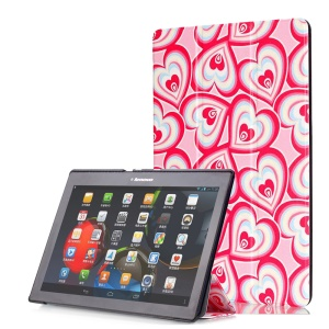 Smart Leather Stand Cover for Lenovo TAB 2 A10-30 X30 / TAB 2 A10-70 - Multiple Hearts