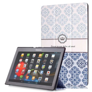 Smart Leather Stand Case for Lenovo TAB 2 A10-30 X30 / TAB 2 A10-70 - Retro Flower