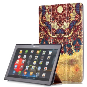 Smart Leather Stand Case for Lenovo TAB 2 A10-30 X30 / TAB 2 A10-70 - Vintage Flower